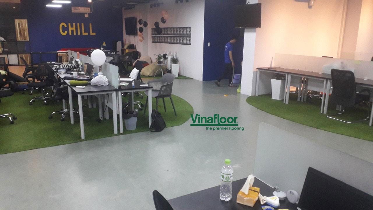 Công trình sàn vinyl cuộn KM20-R-1021810 căn hộ thủy lợi 4 Talent trader