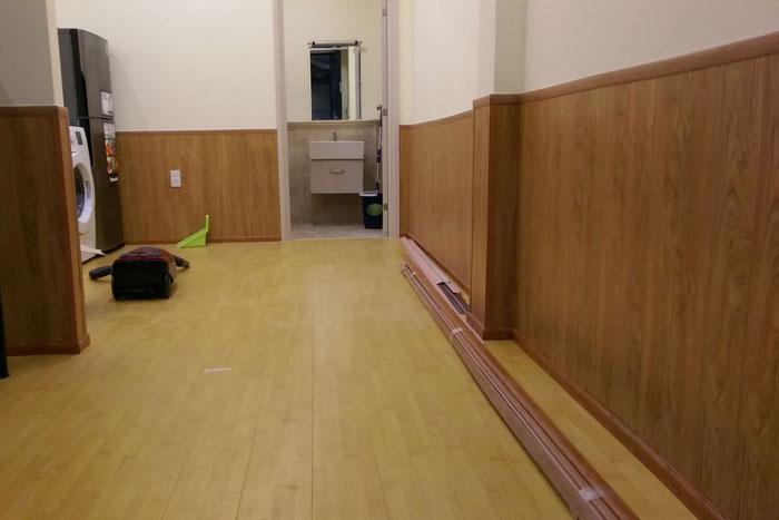 Sàn nhựa dùng ốp tường chống ẩm, nấm mốc 2