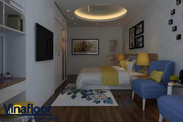 Phối hợp sàn nhựa giả gỗ và gỗ tự nhiên cho ngôi nhà thêm sang trọng 1