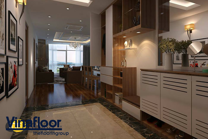 Phối hợp sàn nhựa giả gỗ và gỗ tự nhiên cho ngôi nhà thêm sang trọng 2